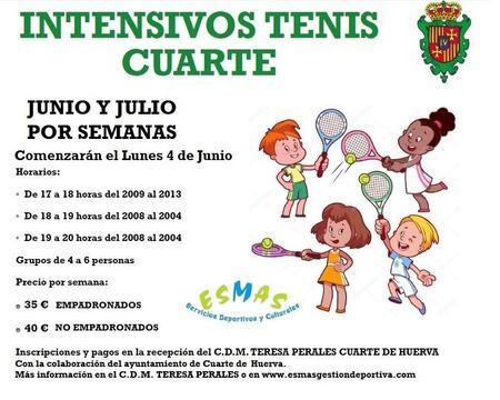 INTENSIVOS TENIS CUARTE - Ayuntamiento de Cuarte de Huerva