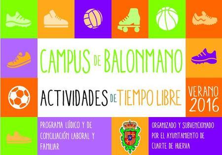 CAMPUS BALONMANO VERANO 2016 - Ayuntamiento de Cuarte de Huerva