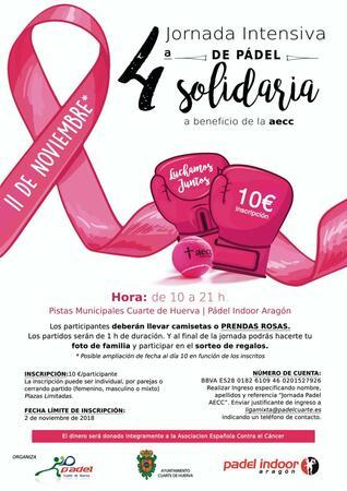 IV JORNADA INTENSIVA DE PÁDEL SOLIDARIA A BENEFICIO DE LA AECC ...