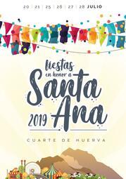 PROGRAMA FIESTAS SANTA ANA 2019 - Ayuntamiento de Cuarte de Huerva