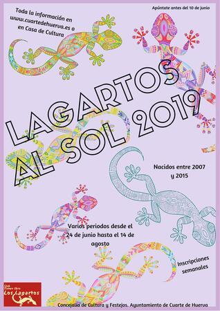 LAGARTOS AL SOL 2019 - Ayuntamiento de Cuarte de Huerva